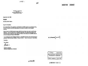 Бывший посол США Р. Страусс. Письмо Президенту РФ Ельцину Б.Н. с просьбой об интервью для «Си-Эн-Эн