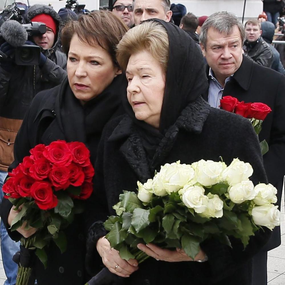 Семья первого президента России простилась с Борисом Немцовым