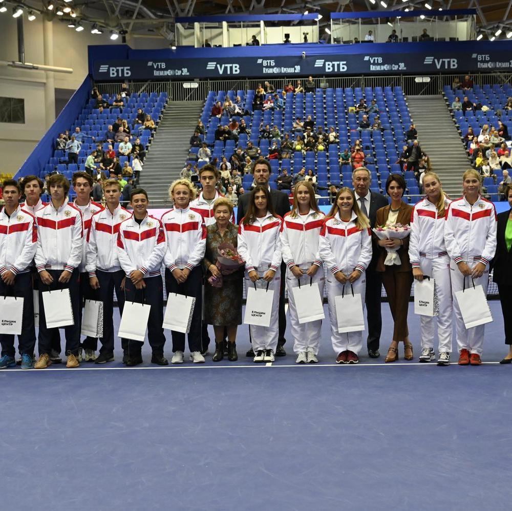 На Кубке Кремля чествовали теннисных стипендиатов