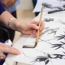 День горы Фудзи — мастер-класс по суми-э